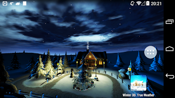 Screenshot of Winter 3D, True Weather