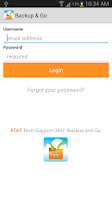 Screenshot of AT&T Tech 360 Backup and Go