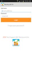 Screenshot of AT&T Tech 360 Backup and Go