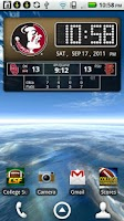 Screenshot of FSU Seminoles Live Clock