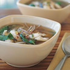 Miso Soup with Fish and Soba