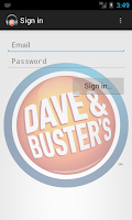Screenshot of Dave & Busters Mobile Media
