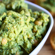 Spicy Guacamole Hummus Party Toasts