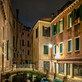 Colorful! Night. by Jesus Giraldo - Buildings & Architecture Homes ( water, contrast, reflection, magic, desing, colors, art, venice, night, beauty, boat )