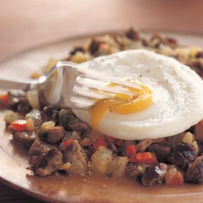 Steak Hash and Eggs