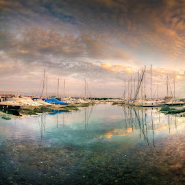 Vodice by Branko Meic-Sidic - Landscapes Waterscapes ( hdr, waterscape, boats, croatia, vodice )