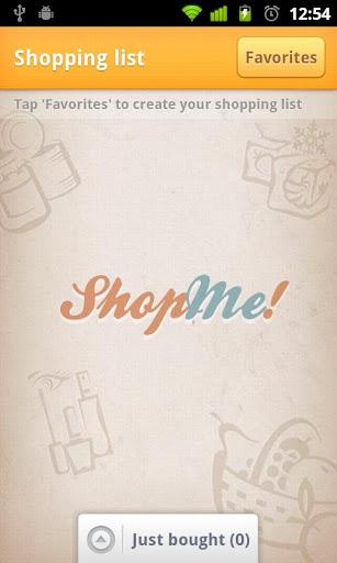 ShopMe one tap shopping list