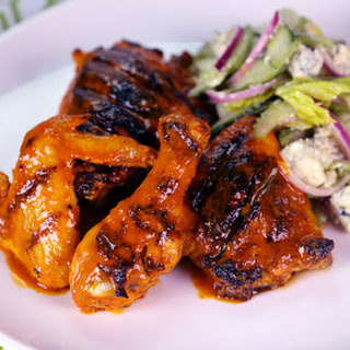 Grilled Buffalo Chicken with Crunchy Celery Salad