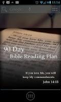 Screenshot of Bible Reading Plan - 90 Day