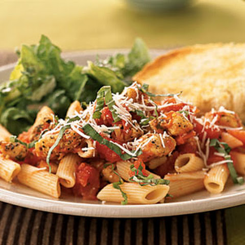 Penne and Chicken Tenderloins with Spiced Tomato Sauce