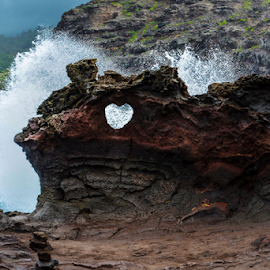 Heart Rock Splash by Jeanne Knoch - Nature Up Close Rock & Stone (  )