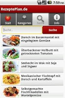 Screenshot of RezeptePlan.de