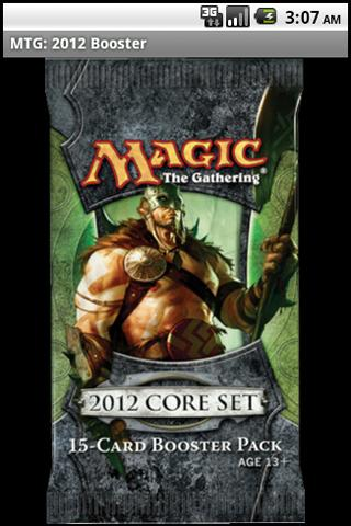 MTG Core 2012 Booster Pack