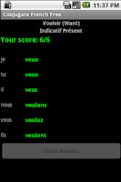 Screenshot of Conjugate French Verbs