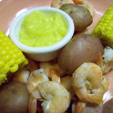 Cajun Shrimp and Sausage Boil With Garlic Mayo