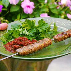 Spiced Lamb and Cashew Kebabs
