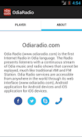 Screenshot of OdiaRadio Live