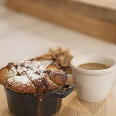 Banana Brioche Monkey Bread with Moloko Milk Stout Butterscotch and Smoked Almond Toffee Brittle