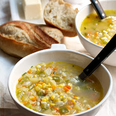 New York Corn Chowder with Tarragon