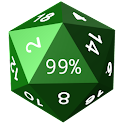 Twenty-Sided Die Battery Meter icon