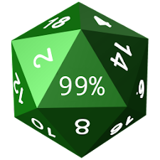 Twenty-Sided Die Battery Meter