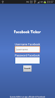Screenshot of Facebook Ticker News Update