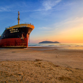 by Charliemagne Unggay - Transportation Boats ( beach, landscape )
