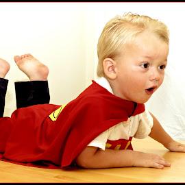 Super oo boy by Ken Baxter - Babies & Children Child Portraits ( superman )