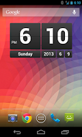 Screenshot of Retro Clock Widget