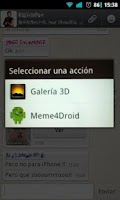 Screenshot of Meme4Droid