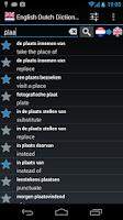 Screenshot of Offline English Dutch Dict.