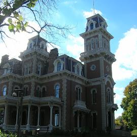 Mansion by Linda McCormick - Buildings & Architecture Public & Historical ( detail, mansion, buildings, architectural, des moines )