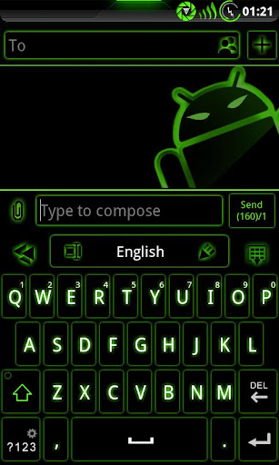 GOKeyboard Theme Glow Green