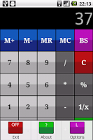 Screenshot of My talking calculator
