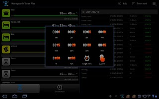 Screenshot of Tablet Timer & Stopwatch Pro