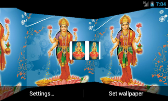 Screenshot of Maa Laxmi 3D Live Wallpaper