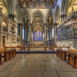 Salisbury Cathedral... by Graham Markham - Buildings & Architecture Places of Worship ( salisbury, font, cathedral, ceilings )