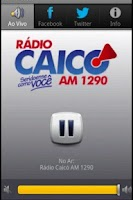 Screenshot of Rádio Caicó AM 1290