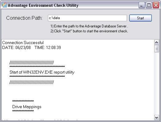 Environment Check Utility