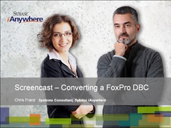 Screencast - Converting a FoxPro DBC