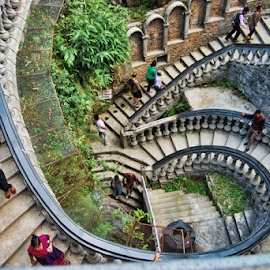 Spiralling Down and Down. by Vijay Nagaonkar - Buildings & Architecture Other Exteriors