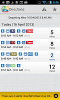 Screenshot of TransitTimes+ Trip Planner