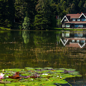 by Selçuk Özkan - Landscapes Waterscapes ( water, home, reflection, lake, house )