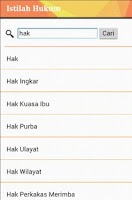 Screenshot of Kamus Hukum