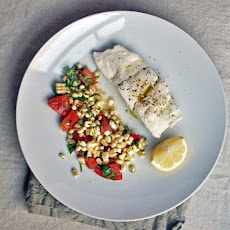 Poached Halibut