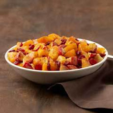 Holiday Butternut Squash With Apple & Cranberries