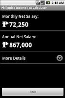 Screenshot of Phil. Income Tax Calculator