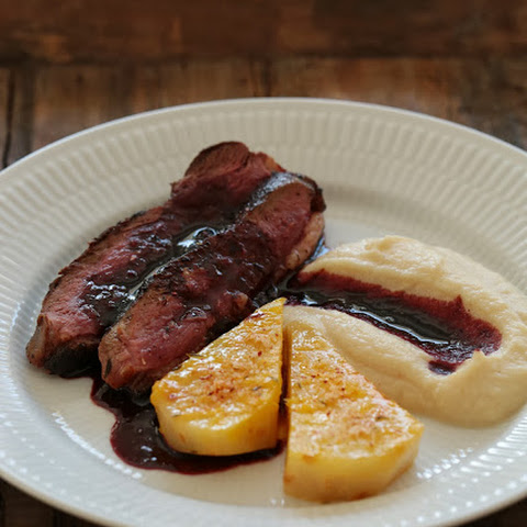 Duck Magret with Port Sauce and Celeriac