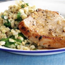 Grilled Pork With Lemon & Thyme Barley