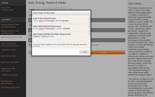 Screenshot of Personal Trainer Calculators